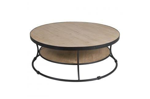Konferenční stolek z laminovaného smrkového dřeva a železa Santiago Pons Curve Konferenční apříruční stolky