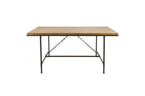 Jídelní stůl z laminovaného smrkového dřeva a železa Santiago Pons Curve Jídelní stoly