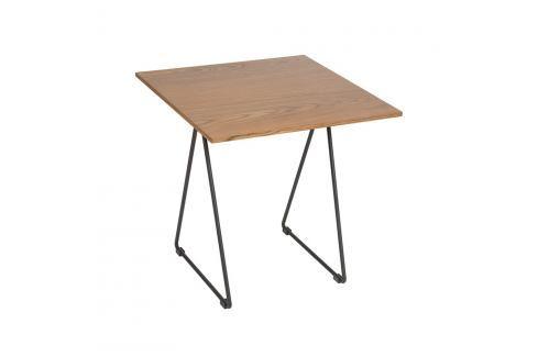 Stůl z ořechového dřeva a tepaného železa Santiago Pons Escala Jídelní stoly