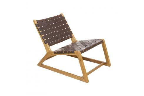 Hnědá židle z dřeva mindi a kravské kůže Santiago Pons Tony Křesla