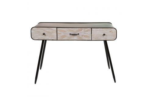 Konzolový stolek z jedlového dřeva a železa Santiago Pons Urban Konferenční apříruční stolky