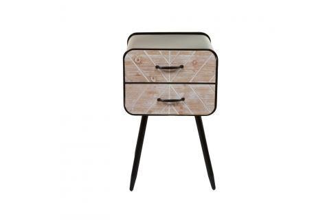 Komoda z jedlového dřeva a železa s 2 šuplíky Santiago Pons Urban Komody