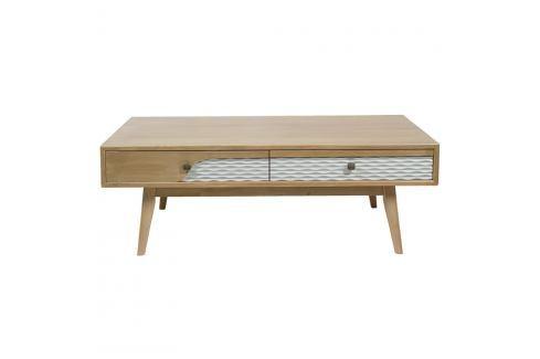 Konferenční stolek z borovicového dřeva Santiago Pons Blue Konferenční apříruční stolky