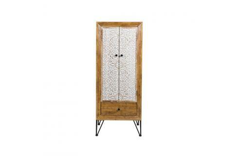 Šatní skříň z jedlového dřeva a železa Santiago Pons Nara Šatní aúložné skříně