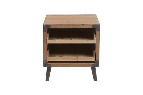Noční stolek z laminovaného jedlového dřeva a železa Santiago Pons Fabric Noční stolky