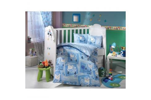 Modré povlečení na jednolůžko Little Sheep, 100 x 150 cm Povlečení aložní prádlo