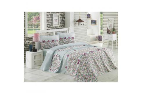 Bavlněný přehoz přes postel na jednolůžko Single Pique Gris, 160 x 235 cm Povlečení aložní prádlo