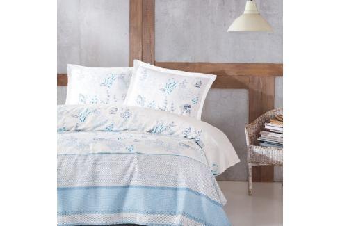 Set přehozu, prostěradla a povlaku na polštář na jednolůžko Kalma Terro, 160 x 220 cm Povlečení aložní prádlo