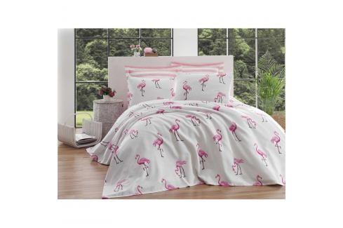 Bavlněný přehoz přes postel na dvoulůžko Single Pique Tara, 200 x 235 cm Povlečení aložní prádlo