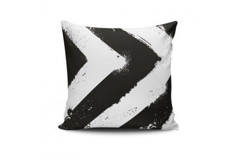 Černo-bílý povlak na polštář Calento Tassa, 45 x 45 cm Polštáře apřehozy