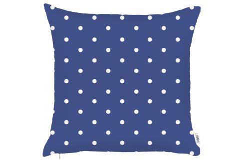 Modrý povlak na polštář Apolena Little Dots, 43x43cm Polštáře apřehozy