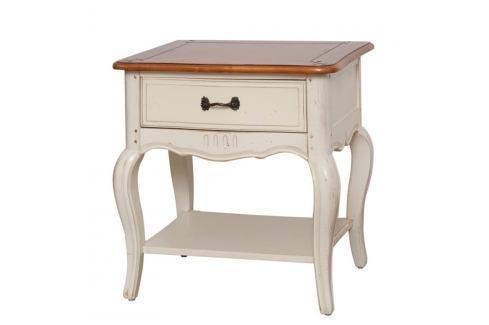 Krémový noční stolek z březového dřeva Livin Hill Verona Noční stolky