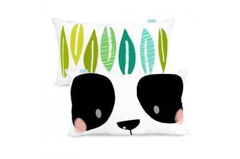 Oboustranný povlak na polštář Moshi Moshi Panda Garden, 50x30cm Polštáře apřehozy