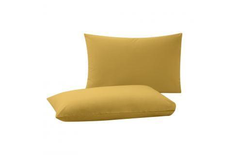 Sada 2 žlutých povlaků na polštáře Bella Maison Basic, 50 x 70 cm Polštáře apřehozy