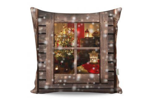 Polštář Christmas Window, 43x43 cm Polštáře apřehozy