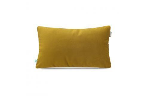 Hořčicově žlutý povlak na polštář Mumla Velour, 30 x 50 cm Polštáře apřehozy